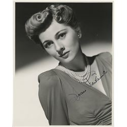 Golden age stars and players (8) signed photographs of Joan Fontaine, Paulette Goddard, and more.