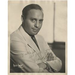 Comedians and comic actors (7) signed photographs including Burns & Allen, Jack Benny, and more.