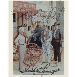 Classic Western TV shows (15) signed photographs and ephemera from Gunsmoke, Bonanza, and others.