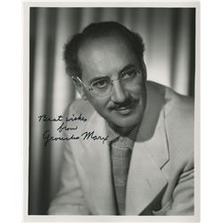 Legendary comedians (8) signed photographs featuring Groucho Marx, Johnny Carson, and more.