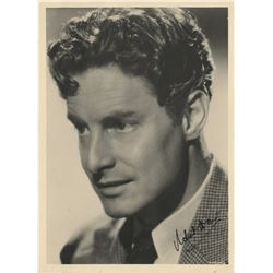 Male stars and character actors (19) signed photographs including Richard Donat and Wallace Beery.