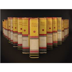 Alcoholics Anonymous (19) books all signed by Bill Wilson plus 1 of 2 existing AA stock certs.