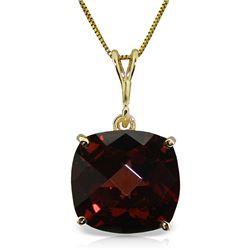 Genuine 4.5 ctw Garnet Necklace Jewelry 14KT Yellow Gold - REF-31W2Y