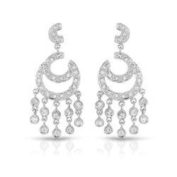 0.86 CTW Diamond Earrings 14K White Gold - REF-75H9M