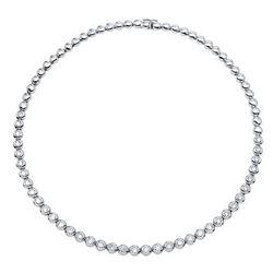 4.86 CTW Diamond Necklace 14K White Gold - REF-619Y4X