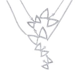 1.07 CTW Diamond Necklace 14K White Gold - REF-107W8H