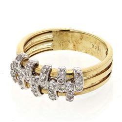 0.36 CTW Diamond Ring 14K 2Tone Gold - REF-40X7R