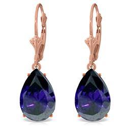 Genuine 9.3 ctw Sapphire Earrings Jewelry 14KT Rose Gold - REF-78V9W