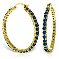 Genuine 6 ctw Amethyst Earrings Jewelry 14KT Yellow Gold - REF-104M8T
