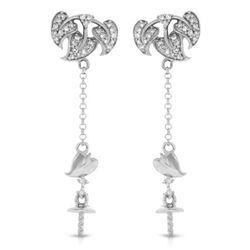 0.21 CTW Diamond Earrings 14K White Gold - REF-23Y7X