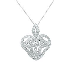 0.45 CTW Diamond Necklace 14K White Gold - REF-42Y5X