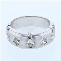0.89 CTW Diamond Ring 14K White Gold - REF-120N2Y