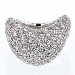 3.41 CTW Diamond Ring 14K White Gold - REF-320N9Y