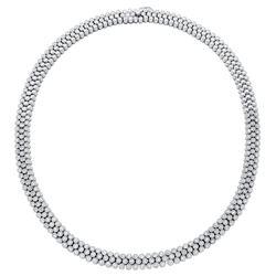 3.85 CTW Diamond Necklace 18K White Gold - REF-892W5H