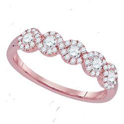 0.50 CTW Diamond Ring 14KT Rose Gold - REF-52K4W