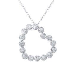 0.80 CTW Diamond Necklace 14K White Gold - REF-62M8F