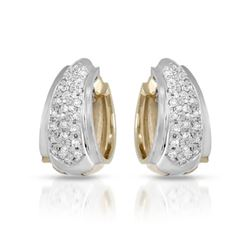 0.66 CTW Diamond Earrings 14K White Gold - REF-84R3K
