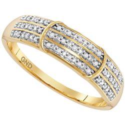 0.10 CTW Diamond Simple Ring 10KT Yellow Gold - REF-14M9H