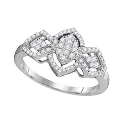 0.33 CTW Diamond Oval Cluster Ring 10KT White Gold - REF-22W4K