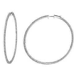 1.45 CTW Diamond Earrings 14K White Gold - REF-123M2F