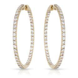 4.05 CTW Diamond Earrings 14K Yellow Gold - REF-272X4R