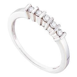 0.16 CTW Diamond 5-stone Ring 10KT White Gold - REF-18M2H