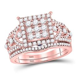 1.16 CTW Diamond Ring 14KT Rose Gold - REF-153M4W