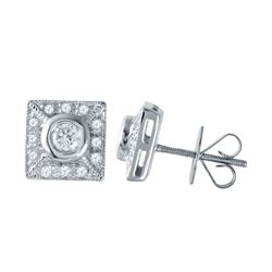 0.46 CTW Diamond Earrings 14K White Gold - REF-50Y3X