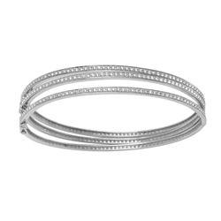0.98 CTW Diamond Bangle 14K White Gold - REF-81K2W