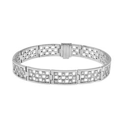 2.87 CTW Diamond Bracelet 18K White Gold - REF-467Y9X