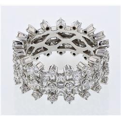 4.79 CTW Princess Diamond Ring 18K White Gold - REF-512K9W