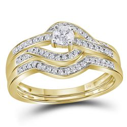 0.36 CTW Diamond Bridal Wedding Engagement Ring 10KT Yellow Gold - REF-44M9H