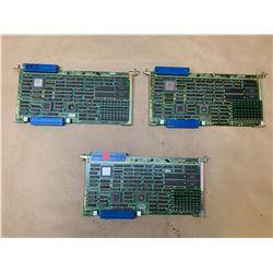 (3) Fanuc A16B-1211-0040 CPU Memory Boards