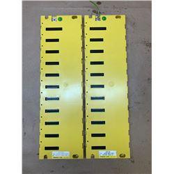 (2) Fanuc A03B-0807-C001 ABU10A 10-Slot Base Module