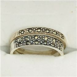 SILVER MARCASITE SET OF 3 RINGS SIZE 6