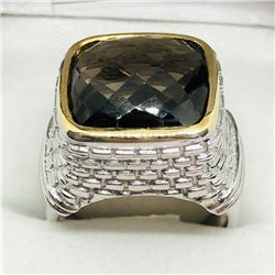 SMOKEY TOPAZ MEN'S RING SIZE 9