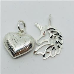 SILVER SET OF 2 PENDANTS