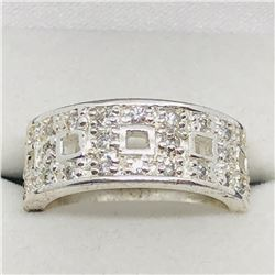 SILVER CZ RING SIZE 6 3/4