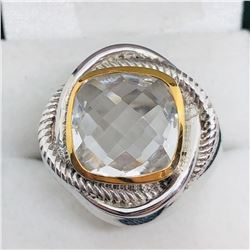 CRYSTAL MEN'S RING SIZE 8