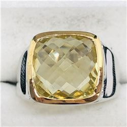 LEMON TOPAZ MEN'S RING SIZE 9