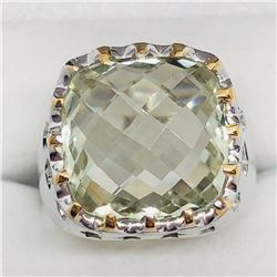 GREEN AMETHYST MEN'S RING SIZE 9