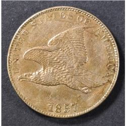 1857 FLYING EAGLE CENT AU