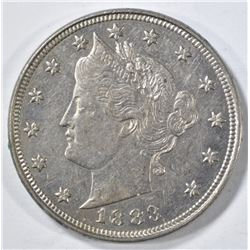 1883 WITH CENTS LIBERTY NICKEL AU/BU