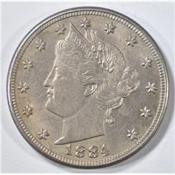 1884 LIBERTY NICKEL AU/BU
