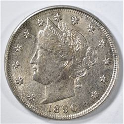 1890 LIBERTY NICKEL AU
