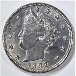 1892 LIBERTY NICKEL AU