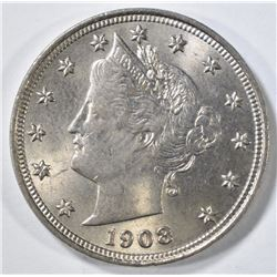 1908 LIBERTY NICKEL CH BU
