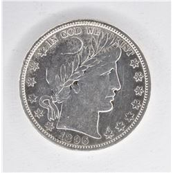1896-O BARBER HALF DOLLAR, AU  KEY DATE
