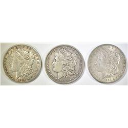 1901-O, 03, 04 MORGAN DOLLARS