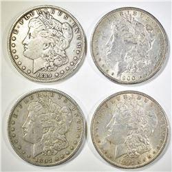 1897-P,S, 89-O, 1900-O MORGAN DOLLARS